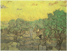 Olive Grove with Picking Figures