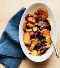 Roasted Vegetables with Pumpkin Spice Balsamic Vinegar