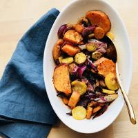 Roasted Vegetables with Pumpkin Spice Balsamic Vinegar